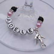 Bottle Opener Personalised Wine Glass Charm - Elegance Style